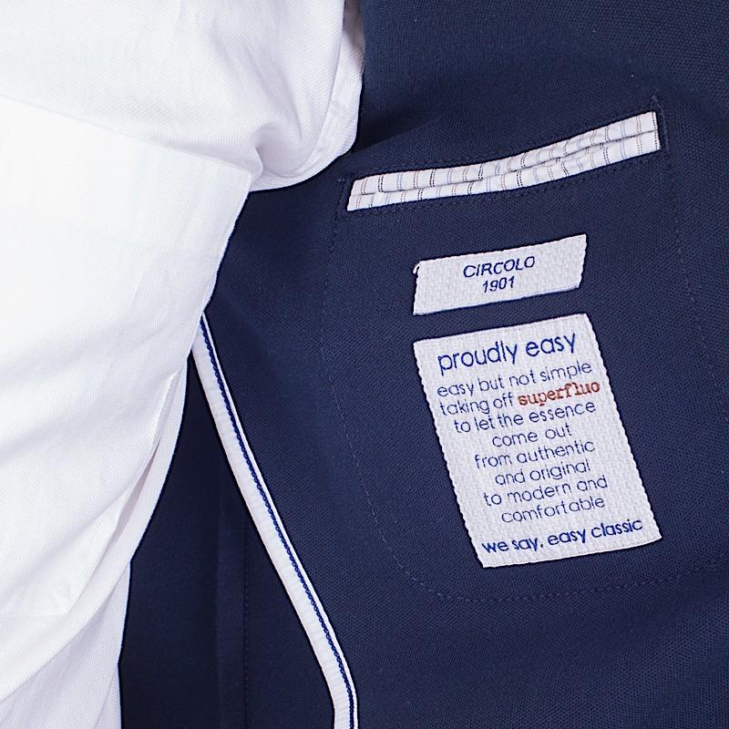 Giacca Blu Navy uomo Circolo 1901 in piquet di cotone CN1790 447   Omero Abbigliamento