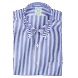 BROOKS BROTHERS CAMICIA BOTTON DOWN BACCHETTA BLU
