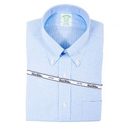 BROOKS BROTHERS CAMICIA BOTTON DOWN PIED DE POULE NO IRON ART. 46662