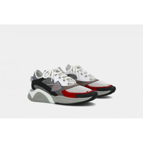 PHILIPPE MODEL SNEAKERS FRANCY GRIS NOIR ROUGE ART. EZLU FY02