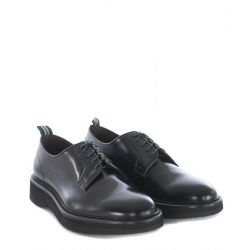 GREEN GEORGE SCARPA ALLACCIATA PELLE TORO ART. 2022 POLISHED 00 NERO