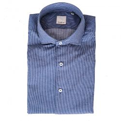 CELLINI CAMICIA RIGHINE COLLO MORBIDO ART.71202.001