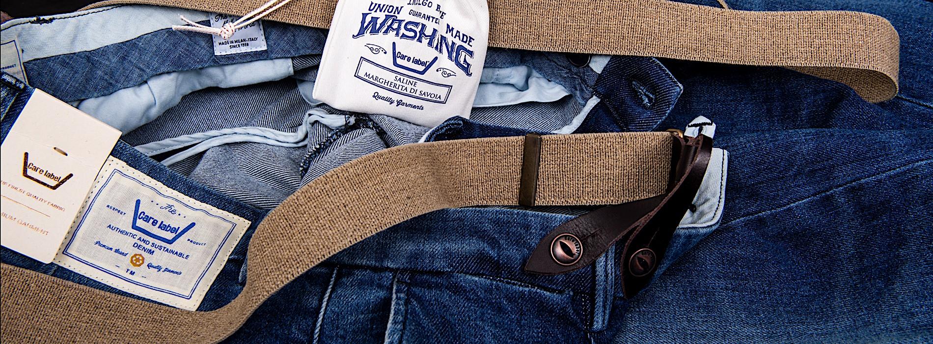 care label jeans, saline margherita di savoia
